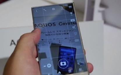 Telefonul cu cea mai subtire rama, Sharp Aquos Crystal, se lanseaza in America