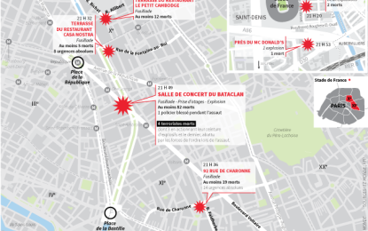 ATENTAT PARIS. ATAC TERORIST în șapte locații: 129 de morți.