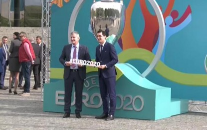 SPORT : Logo-ul Bucureştiului pentru Euro 2020 a fost lansat: Podul Basarab, element de legătură