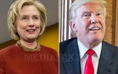 ALEGERI SUA: Hillary Clinton, avans de 1,7% comparativ cu Donald Trump. Scrutinul prezidenţial va avea loc în 8 noiembrie