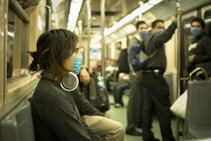 swine_flu_masked_train_passengers_in_mexico_city